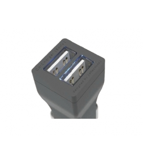 CarCharger Illuminated Ładowarka samochodowa 3.4A z podświetlanymi portami USB