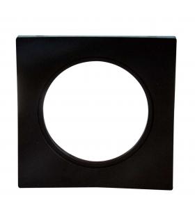 Ramka LED KONEKTO kwadratowa czarna LSR-CK-X1