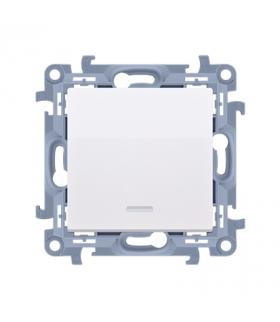 Łącznik jednobiegunowy z podświetleniem LED biały 10AX CW1L.01/11