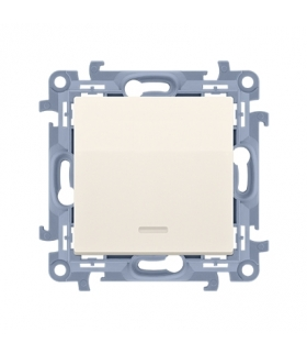 Łącznik jednobiegunowy z podświetleniem LED kremowy 10AX CW1L.01/41