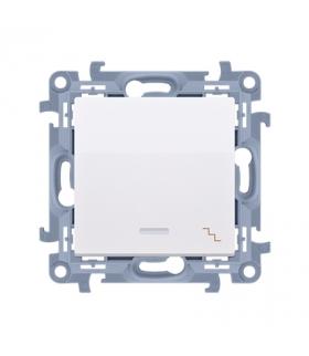 Łącznik schodowy z podświetleniem LED biały 10AX CW6L.01/11