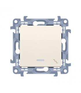 Łącznik schodowy z podświetleniem LED kremowy 10AX CW6L.01/41