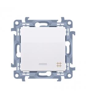 Łącznik krzyżowy z podświetleniem LED biały 10AX CW7L.01/11