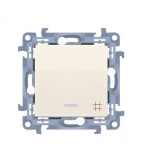 Łącznik krzyżowy z podświetleniem LED kremowy 10AX CW7L.01/41