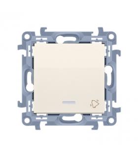 """Przycisk """"dzwonek"""" z podświetleniem LED kremowy 10AX CD1L.01/41"""
