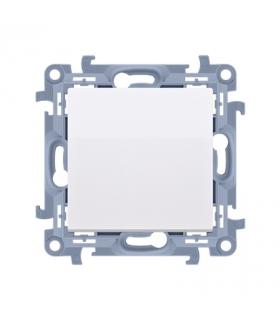 Przycisk pojedynczy zwierny bez piktogramu biały 10AX CP1.01/11