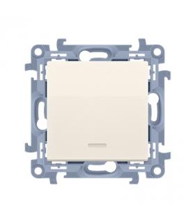Przycisk pojedynczy zwierny bez piktogramu z podświetleniem LED kremowy 10AX CP1L.01/41