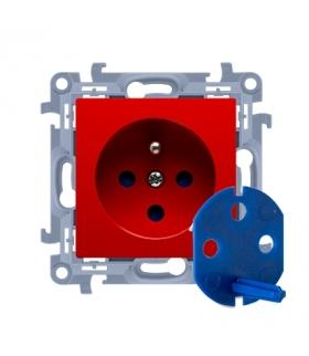 Gniazdo wtyczkowe pojedyncze DATA z kluczem uprawniającym czerwony 16A CGD1.01/22