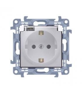 Gniazdo wtyczkowe pojedyncze do wersji IP44 - z uszczelką - klapka w kolorze transparentnym biały 16A CGSZ1B.01/11A