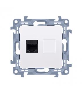 Gniazdo telefoniczne pojedyncze RJ11 biały CT1.01/11