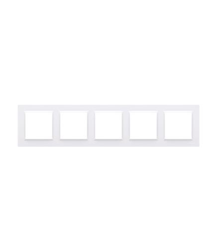 Ramka 5- krotna biały CR5/11