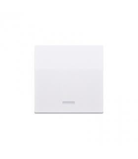 Klawisz pojedynczy z oczkiem do łączników i przycisków podświetlanych biały CKW1L/11