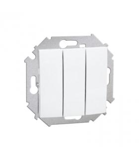 Łącznik trójobwodowy (moduł) 10AX 250V, zaciski śrubowe, biały 1591391-030