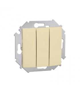 Łącznik trójobwodowy (moduł) 10AX 250V, zaciski śrubowe, beżowy 1591391-031