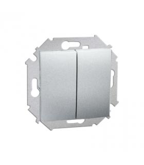 Łącznik schodowy podwójny (moduł) 16AX 250V, zaciski śrubowe, aluminiowy, metalizowany 1591397-026