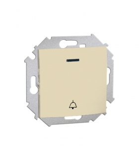 """Przycisk """"dzwonek"""" z podświetleniem kolor: czerwony (moduł) 16AX 250V, zaciski śrubowe, beżowy 1591162-031"""
