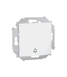 """Przycisk """"dzwonek"""" (moduł) 16AX 250V, zaciski śrubowe, biały 1591659-030"""