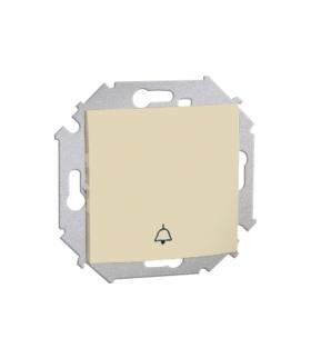 """Przycisk """"dzwonek"""" (moduł) 16AX 250V, zaciski śrubowe, beżowy 1591659-031"""
