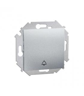 """Przycisk """"dzwonek"""" (moduł) 16AX 250V, zaciski śrubowe, aluminiowy, metalizowany 1591659-026"""