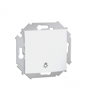 """Przycisk """"światło"""" (moduł) 16AX 250V, zaciski śrubowe, biały 1591651-030"""