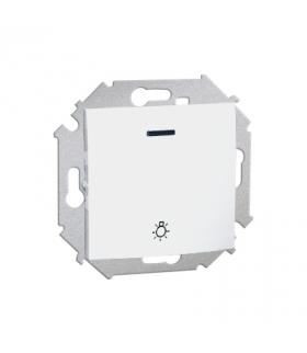 """Przycisk """"światło"""" z podświetleniem LED nie wymienialny kolor: czerwony (moduł) 16AX 250V, zaciski śrubowe, biały 1591161-030"""