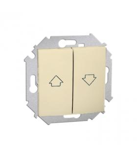 Przycisk żaluzjowy pojedynczy (moduł) 10A 250V, zaciski śrubowe, beżowy 1591335-031