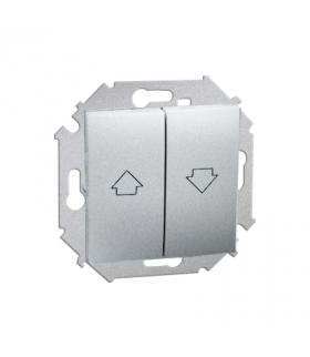 Przycisk żaluzjowy pojedynczy (moduł) 10A 250V, zaciski śrubowe, aluminiowy, metalizowany 1591335-026