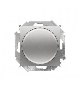 Ściemniacz do LED ściemnialnych, naciskowo-obrotowy, jednobiegunowy aluminiowy, metalizowany W układzie schodowym:Tak 1591791-02