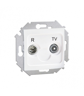 Gniazdo antenowe R-TV końcowe separowane tłum.:1dB biały 1591486-030