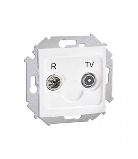 Gniazdo antenowe R-TV zakończeniowe do gniazd przelotowych tłum.:10dB biały 1591488-030