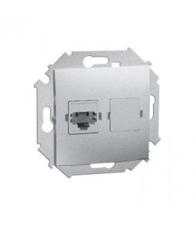 Gniazdo telefoniczne pojedyncze RJ12 aluminiowy, metalizowany 1591531-026