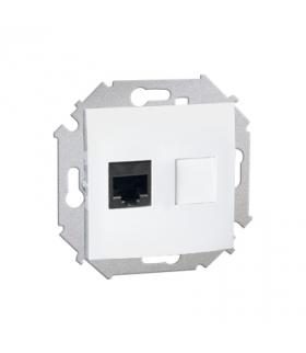 Gniazdo komputerowe pojedyncze RJ45 kategoria 5e biały 1591551-030