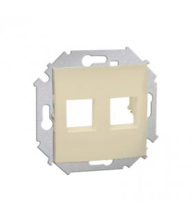 Pokrywa gniazd teleinformatycznych na Keystone płaska podwójna beżowy 1591530-031