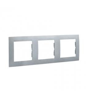 Ramka 3- krotna aluminiowy, metalizowany 1501630-026