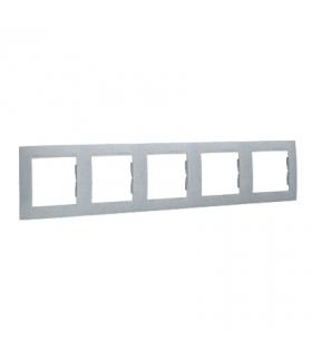 Ramka 5- krotna aluminiowy, metalizowany 1501650-026