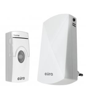 DZWONEK BEZPRZEWODOWY EURA WDP-05A3 - biały, kodowany, możliwość rozbudowy, zasilanie 230V/50 Hz