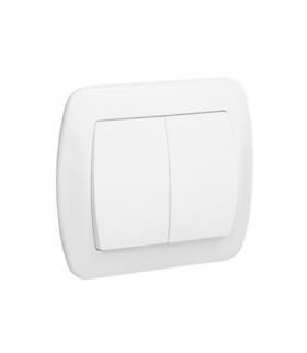 Łącznik świecznikowy z podświetleniem biały 10AX AW5L/11
