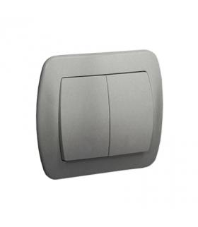 Łącznik świecznikowy z podświetleniem aluminiowy, metalizowany 10AX AW5L/26