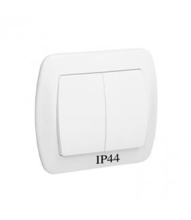 Łącznik świecznikowy bryzgoszczelny biały 10AX AW5B/11