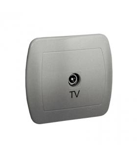 Gniazdo antenowe TV pojedyncze końcowe aluminiowy, metalizowany AAK3/26