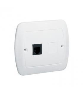 Gniazdo telefoniczne pojedyncze RJ12 biały AT1/11