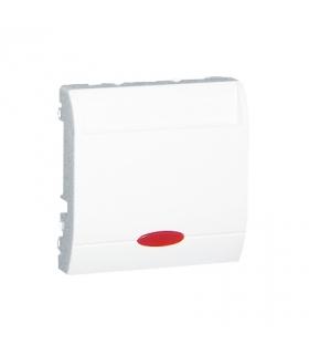 Łącznik hotelowy z podświetleniem biały 10A 2A MWH1.02/11