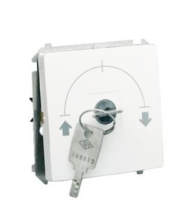 """Łącznik na kluczyk jednobiegunowy - 2 pozycyjny """"0-I"""" biały 5A MW1K.01/11"""