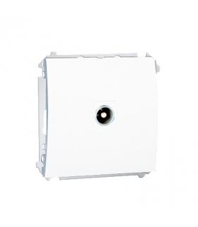 Gniazdo antenowe R-TV końcowe separowane tłum.1dB biały MAK3.01/11