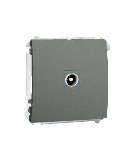 Gniazdo antenowe R-TV końcowe separowane tłum.1dB grafitowy, metalizowany MAK3.01/25