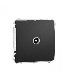 Gniazdo antenowe R-TV końcowe separowane tłum.1dB grafit mat, metalizowany MAK3.01/28