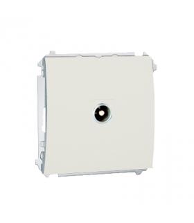 Gniazdo antenowe R-TV przelotowe ecru MAP1.01/10