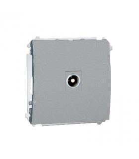 Gniazdo antenowe R-TV przelotowe aluminiowy, metalizowany MAP1.01/26