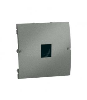 Gniazdo telefoniczne pojedyncze RJ11 grafitowy, metalizowany MTU.01/25