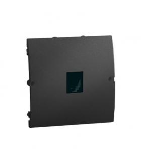 Gniazdo telefoniczne pojedyncze RJ11 grafit mat, metalizowany MTU.01/28